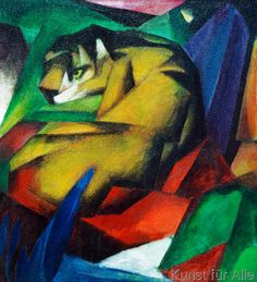 Franz Marc - The tiger