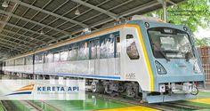 Train in Kuala Namu Int. Airport, Medan, Sumatra