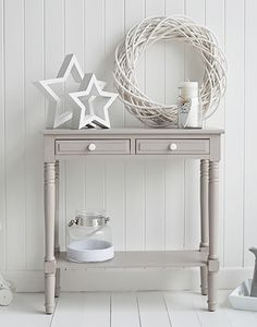 Oxford grey small console hall table