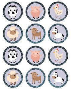 The Farm: Free Printable Mini Kit. Farm Cupcake Toppers, Farm Animal Cupcakes, Farm Animal Party, Farm Animal Birthday, Barnyard Party, Farm Birthday, Farm Party, Cupcake Wrappers, Party Printables