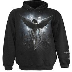 Pullover Hood Angel's Lament (black) - rockcollection.co.uk - $483nok e/ fortolling
