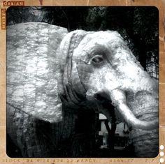 Elefante de botellas de plastico.