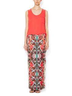 Side Slit Maxi Skirt by ENVI at Gilt
