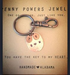 These make great Father's Day Gifts.  Key chain with mini pennies