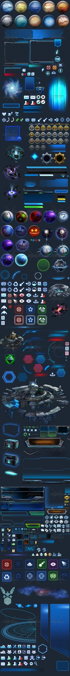Science Fiction Technology UI interface warships future air ...: