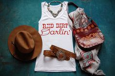 Womens Music Tank Top Red Dirt Darlin' by LawlessSouls on Etsy