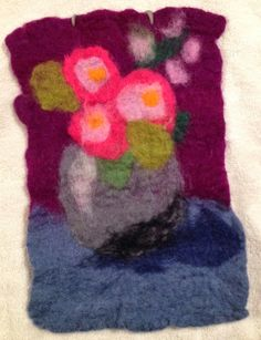 easy wet felting project with kids
