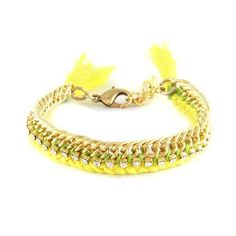 Celebutante Bracelet in Yellow and lime