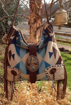 Pendleton Wool & Concealed Carry Leather bag/ by DoubleJOriginals