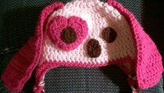 Handmade child crochet puppy dog hat. Light and hot by darstar5