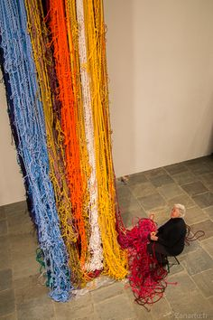 """Pillar of Inquiry"", Sheila Hicks, Whitney Museum"