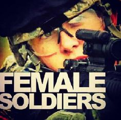 Female soldier.