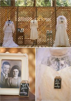 a lineage of love wedding display... this is awesome! What a great tribute to love!