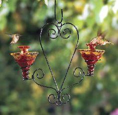Beautiful hummingbird feeders!