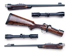 Westley Richards & Co. Ltd.  Take down rifle with two barrels.