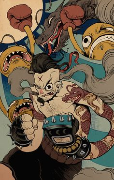 Illustrations 2014 by Raul Urias, via Behance
