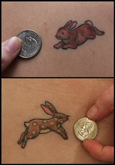 I love these little Rabbit Tattoos. Tattooed By Rachel @ White Rabbit Tattoo Studio
