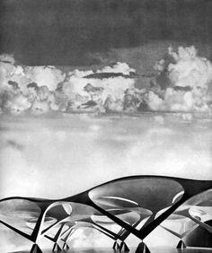 Propuesta de Enrico Castiglioni para el concurso de estación de Nápoles 1954