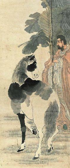 清代 - 任伯年 - 相馬圖                          Painted by the Qing Dynasty artist Ren Bonian 任伯年. View paintings, artworks and galleries at Chinese Art Museum.