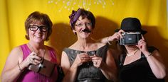 Mam and aunties in our DIY Photo Booth!