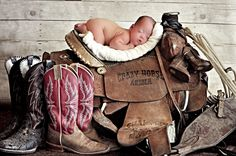 Newborn Photography Baby Boy Cowboy Saddle. Wanted to do this with kase but didn't get it done. The next one :)