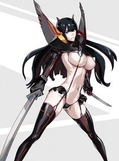 Kill la Kill Satsuki by makacoon / http://www.pixiv.net/member_illust.php?mode=medium&illust_id=42369268
