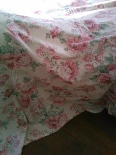Sweet Floral Fabric Shower Curtain by MyShabbyValentine on Etsy, $12.00