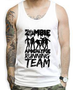 Zombie Apocalypse Running Team Tank Tops