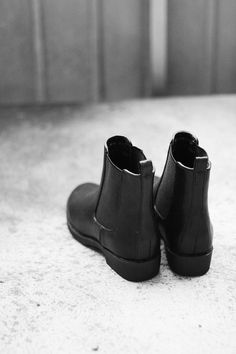 Wardrobe essential shoes 5 - ankle boots for winter months. Classic Chelsea boots cannot be beaten.