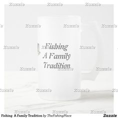Fishing  A Family Tradition Frosted Glass Beer Mug