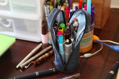 Nomadic PD-03 Upright Stand Pencil Case - Navy by GourmetPens, via Flickr from @JetPens