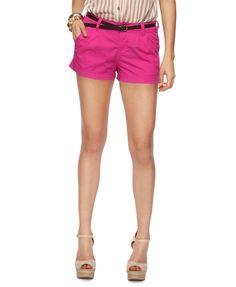 pink shorts.