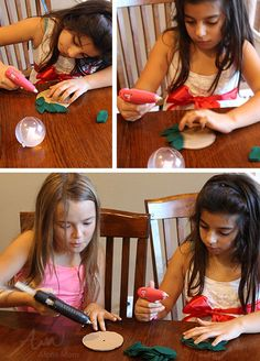 St. Lucia Day Craft: Bubble Candle Wreath by Brenda Ponnay for Alphamom.com (glue gun safety talk)