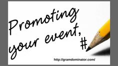 promote #events with hashtags