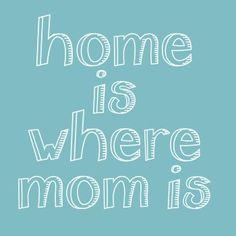 Studio Inktvis - home is where mom is kaart (Voorzijde)