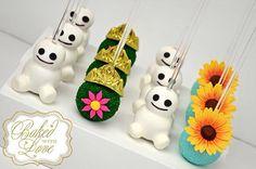 Frozen fever cakepops!!!!
