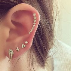 My beautiful friend Katherine Schwarzenegger showing us how it's done! Xo, EF #efcollection #earparty #layeritup #mixandmatch #makeityourown