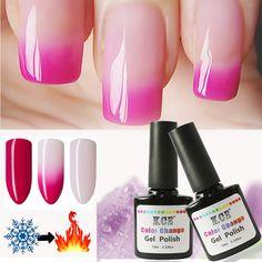 Newest Nail Polish Temperature Change Nail Color UV Gel Polish Gradient Nail Gel for Nail  gel polish 10ml /1pc