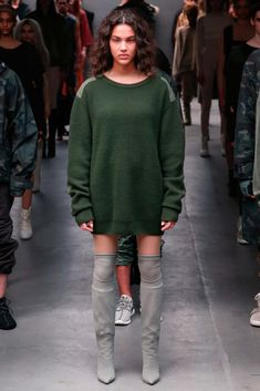 Kanye West x Adidas Originals - Fall 2015 Ready-to-Wear - Look 44 of 50 I really do love what he did as much as I hate that I love it... I LOVE it. I need some Kanye boots and a body sock or two.