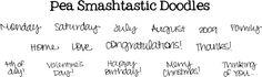 FREE Pea Smashtastic Doodles #Font #DIY #Fonts