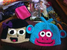 Dora and Boots Crochet Hats