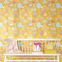 Behang Majvillan Cherry Valley Yellow