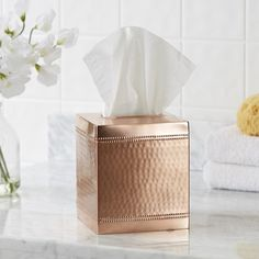 You'll love the Hammered Copper Tissue Dispenser at Birch Lane - With Great Deals on all products and Free Shipping on most stuff, even the big stuff.