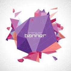 Abstract Triangular Banner Vector