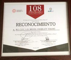 En @anafinet apoyando la Contaduría Pública, gracias Colegio Riviera Maya