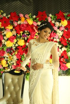 Christian bride's saree.