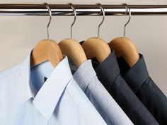 Premium quality wooden curved shape hangers ideal for men's shirts. Size:44 cm.