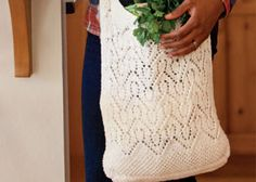 Perfect for the mom in your life, this market bag uses a lace pattern instead of plain mesh to make it extra special.