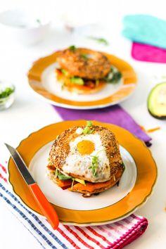 Egg in a Hole Breakfast Bagel Sandwich // Salty Canary