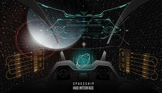 Spaceship UI and other HUD concept on Behance